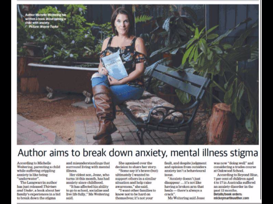 Thank you Mornington Peninsula Standard Leader for helping me spread the word on Anxiety.